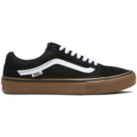 Vans Old Skool Pro Shoes (Black/Gum/White)