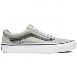 Vans Old Skool Pro Shoes (Drizzle/Black/White)