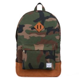 Herschel Supply Co. Heritage Suede (Woodland Camo Leather) Backpack