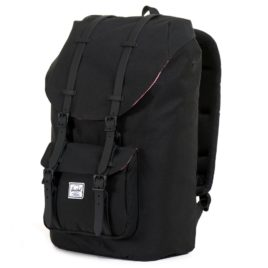 Herschel Supply Co. Little America (Black Rubber) Backpack