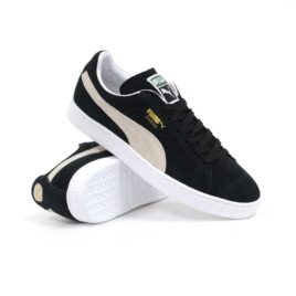 Puma Suede Classic Plus (Black/ White) Men's Shoes