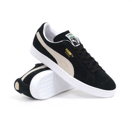 Puma Suede Classic Plus (Black-White) Men's Skate Shoes – P4200