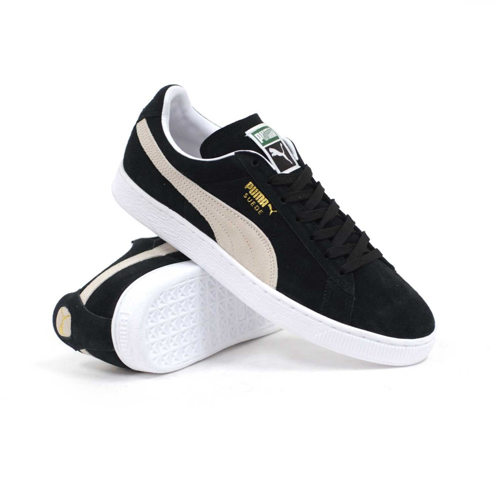 Puma Suede Classic Plus (Black  White) Men s Shoes – Shoesunlimited Cebu b0996af2c