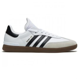 Adidas Samba ADV Shoes (White/Core Black/Gum)