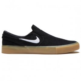 Nike SB Zoom Janoski Slip RM Shoes (Black/White/Black/Gum Light Brown)