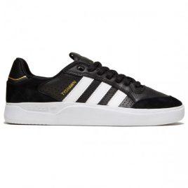 Adidas Tyshawn Low Shoes (Core Black/White/Gold Metallic)