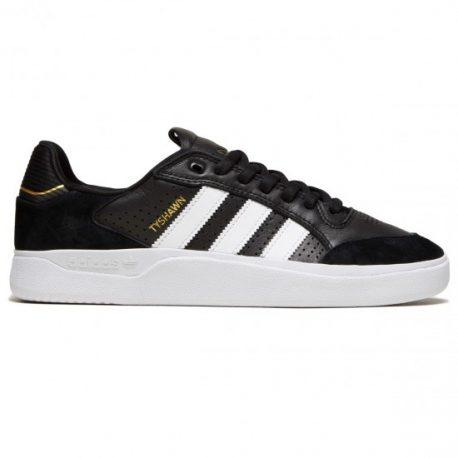 Adidas Tyshawn Low Shoes (Core Black-White-Gold Metallic) – 6700